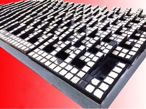 张骞®梳齿型橡胶陶瓷筛板